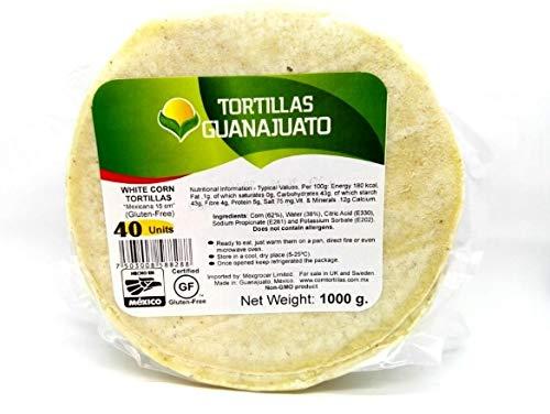Weiße Maistortillas glutenfrei 15 cm - Guanajuato, 40St./1kg