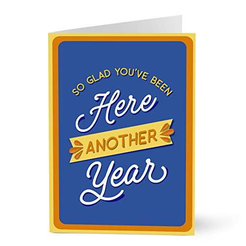 Hallmark Business Work Anniversary Card for Employees (Glad You're Here) (Pack of 25 Greeting Cards)