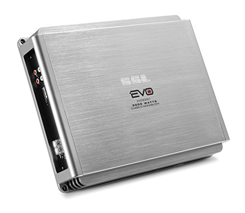 Sound Storm Labs EVO3000.1 EVO 3000 Watt 1 Ohm Stable Class D Monoblock Car Amplifier with Remote Subwoofer Control