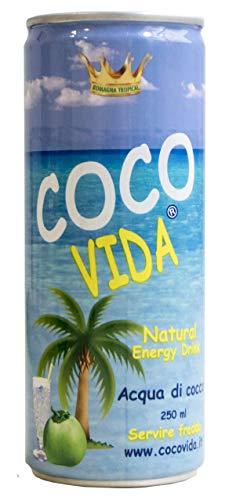 Acqua di cocco Coco Vida - Confezione da 24 lattine da 250 ml.