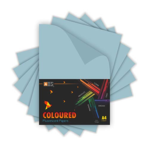 Freelance Enterprise ABS brand fluorescent paper A4 Size- Light Blue (Pack of 100)
