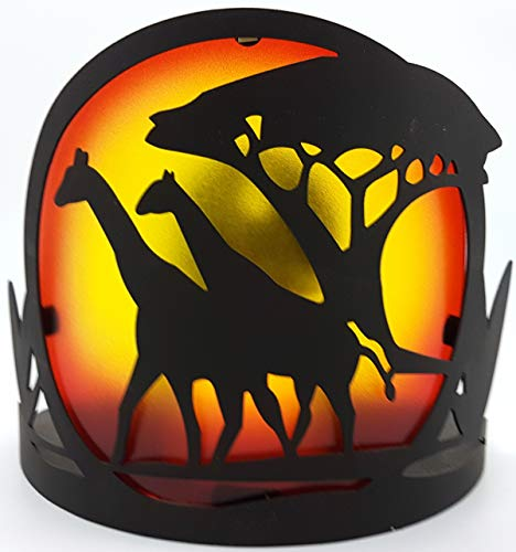 1a PartyLite - Wandhalter SAVANNE - P8757 - schwarz rot Gold gelb