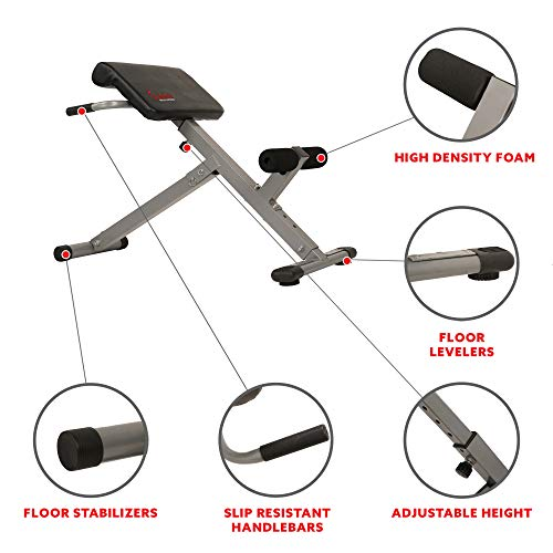 Product Image 2: Sunny Health & Fitness SF-BH6629 45 Degree Hyperextension Roman Chair