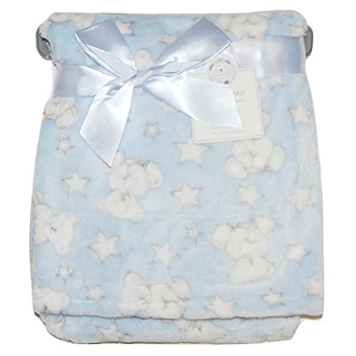 Baby-Boy-Girl-Unisex-Soft-Fleece-Wrap-Blanket-Pram-Cot-Crib-Moses-Basket-Star-Teddy