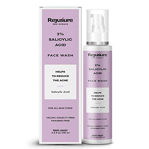 Rejusure 2% Salicylic Acid Face Wash Helps to Reduce Acne For Oily Skin – 100ml