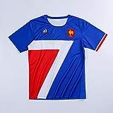 ZA France Nation Rugby Sevens Maillot 2020 (Blue, M)