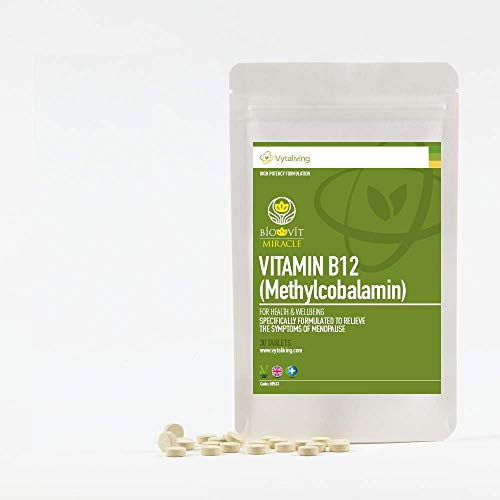 VYTALIVING Biovit Miracle Vitamin B12 (30 Tablets, 1 Month Supply) - Helps with Blood, Bone, and Brain Health