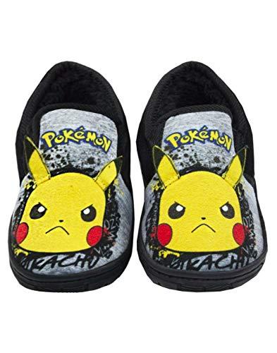 Pokemon Pikachu Hausschuhe Graffiti Gesicht Kinder grau Marl Loafer