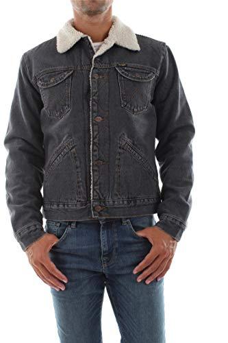 Wrangler Herren Jeansjacke Sherpa Jacket - Regular Fit - Schwarz - Black 2 Years, Größe:XL, Farbe:Black 2 Years Wash (271H)