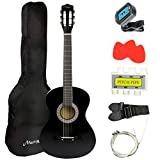 Martin Smith 38 Inch Acoustic Guitar, Black, With Case,...