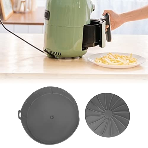 Antiadherente Aire Freír Pot Liner Grill Pan Silicona para el hogar para pastel (gris)