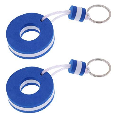Inzopo 2 x Schlüsselanhänger schwimmendes Boot Schlüsselanhänger - Marine Wasser Schlüsselanhänger Segelboje Blau