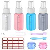 Supgear 10 Pack Botella de Viaje de Silicona, Recargable Sub-Botellas de Cosméticos Botellas de Spray Set para Líquidos,Loción de Maquillaje Cosmético, muestras cosmético Almacenamiento de Cremas