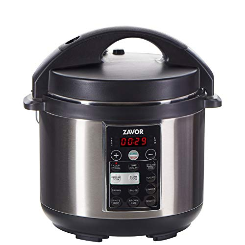 Zavor LUX Multi-Cooker, 4 Quart Electric Pressure Cooker, Slow Cooker, Rice Cooker, Yogurt Maker and more - Stainless Steel (ZSELX01)