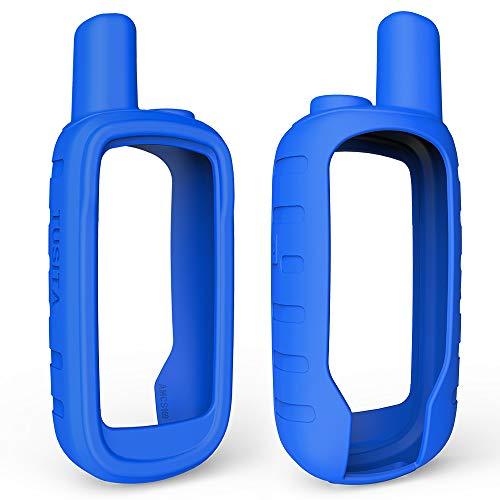 TUSITA Case for Garmin Alpha 100 - Silicone Protective Cover - Handheld GPS Accessories (Blue)