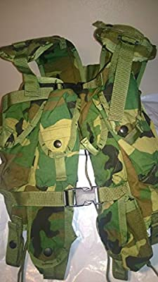 U.S Army Surplus Tactical Load Bearing Assault Vest - Camouflage