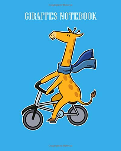 GIRAFFES NOTEBOOK: giraffe long necked animal bike tour children gift - 50 sheets, 100 pages - Dot Graph Paper  - 8 x 10 inches
