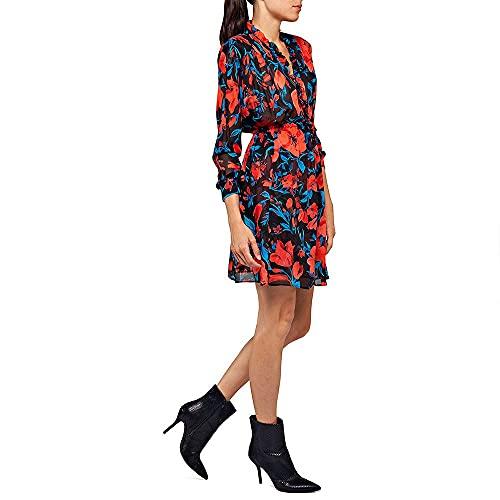 REPLAY W9611 .000.72090 Vestido, Multicolor (Multicolor 010), Large para Mujer