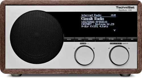 TechniSat DigitRadio 400 (DAB+/UKW & Internetradio, WLAN, UPnP, Bluetooth), holzoptik