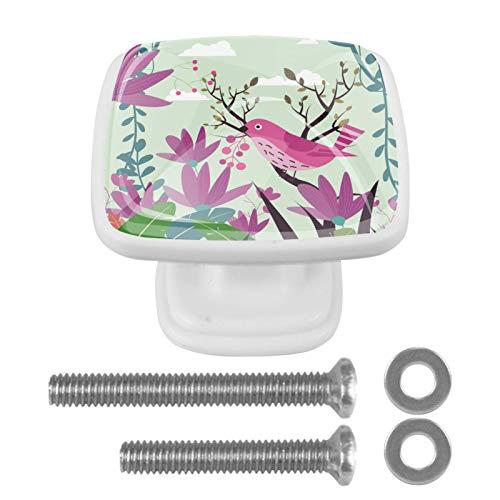 Schrankknöpfe / Schubladengriffe aus Kristallglas, 30 mm, für Küchenschränke, Kommoden, Kleiderschrank, 4 Stück