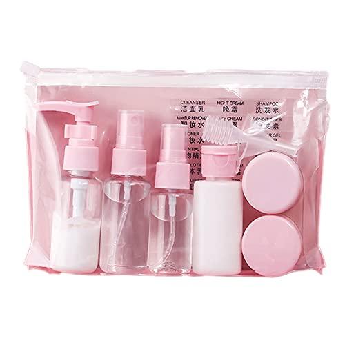 subenvasado portátil pequeño for cosméticos,Botes para Viaje Vacios Rellenables Set Botellas de Plástico, Kit Viaje Avion para Champu, Cosmetica,Botella De Spra
