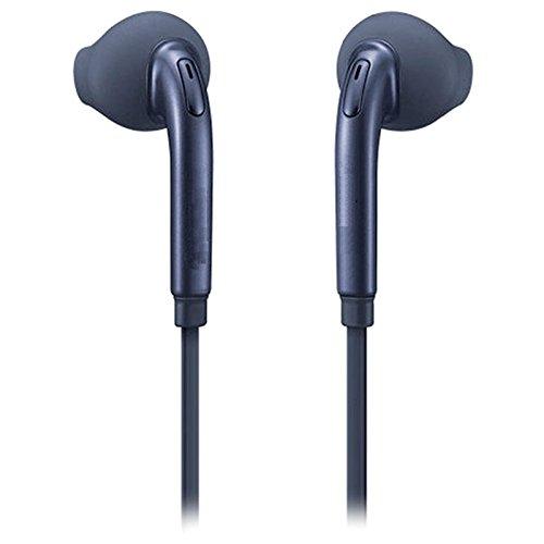 Fones de ouvido estéreo OEM de 3,5 mm (EO-EG920) com microfone, controle de volume e gel de ouvido extra para Samsung Galaxy S7/S7 Edge, S6/S6 Edge – Preto – 1 pacote