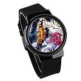 Armbanduhren,Touchscreen LED Uhr Broly Dbs Anime Umgebung Wasserdicht Leuchtendes Elektronisches Band Uhr Schwarz