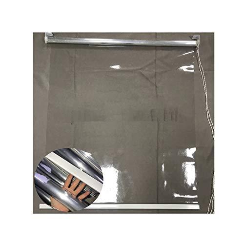 Stores Extérieurs Imperméables Rideau De Séparation Coupe-vent Pour Terrasse Pour Gazebo Pergola Les Volets Roulants De Type Tirant Peuvent Être Facilement Installés ( Color : Clear , Size : 1X1M )