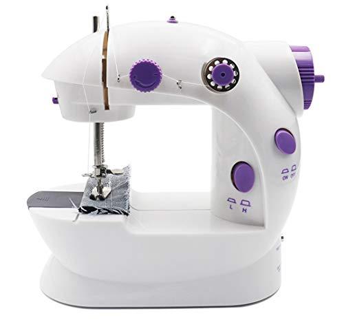 LLan Elektrische Mini Naaimachine for thuis machine te naaien Lock Stitch Adjustment Met Licht Handheld Portable Naaimachine