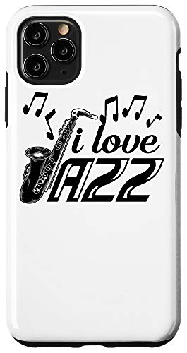 iPhone 11 Pro Max I Love Jazz Music | Cute Soprano Saxophonists Fan Funny Gift Case