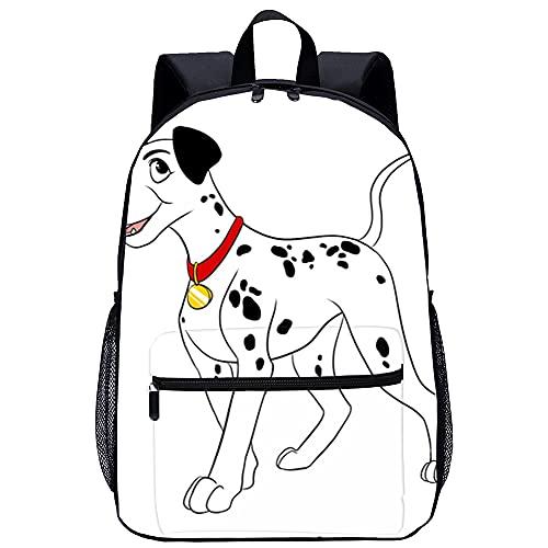 ZFWEI Mochila informal 101 dálmatas que se ajustan a las mochilas para portátiles de 15,6 pulgadas Mochila universitaria con bolsillo frontal
