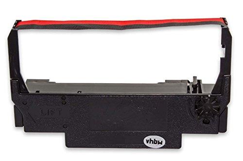 vhbw Cinta de tinta mecanográfica de nailon para impresora matricial/agujas Bixolon SRP 270, SRP 275 reemplaza ERC-38 B/R, ERC-30, ERC-34.