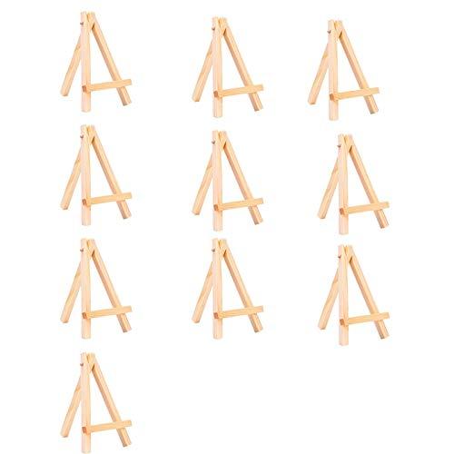10 piezas mini caballete triangular de madera, caballete plegable, estante de exhibición para bodas, caballete de pintura DIY, estante de exhibición de madera, estante de exhibición de escritorio