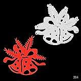 Plantillas de troqueles de corte de metal de la serie Feliz Navidad para álbumes de recortes de bricolaje/álbum de fotos Tarjetas de papel de bricolaje decorativas en relieve, troqueles de corte-204