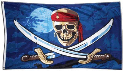 Flaggenfritze® Flagge Pirat Fluch der Meere - 90 x 150 cm