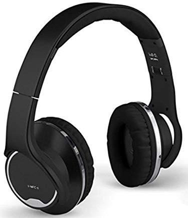 XIT DJ Sound Twist-Out Speaker Bluetooth Headphone, Black