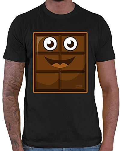 HARIZ Herren T-Shirt Milch Und Schokolade Junge Partner Kostüm Karneval Kostüm Plus Geschenkkarten Schwarz 3XL