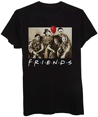 T-Shirt Friends Serie TV Horror Movies Parodia - Horror Divertenti - Donna-L-Nera