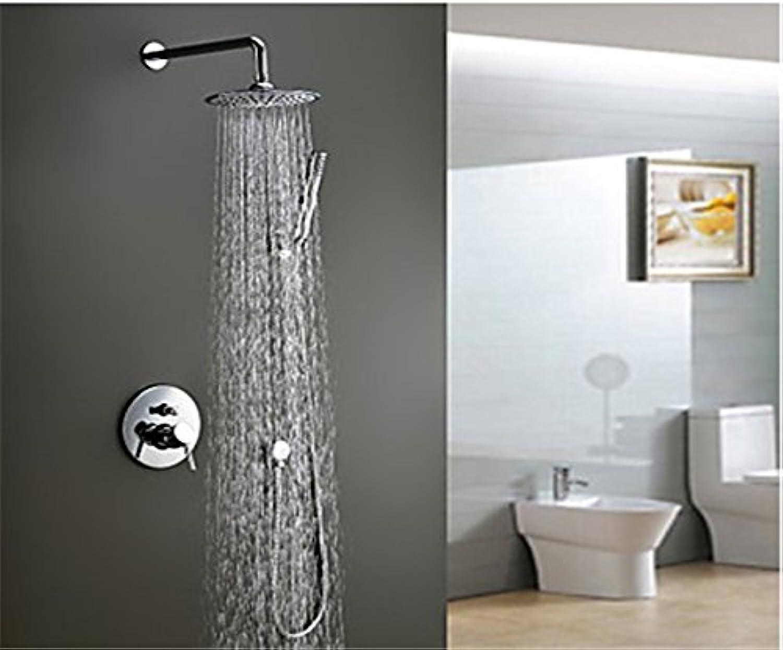YFF@ILU Home deco Accessoires moderne Dusche Wasserhahn mit 8 Zoll Duschkopf + Dusche