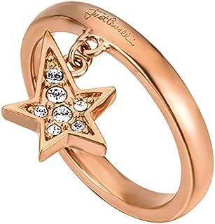 خاتم روك للنساء من جست كافالي بلون النحاس الاصفر - 8 - 18 ملم، JCRG00160308