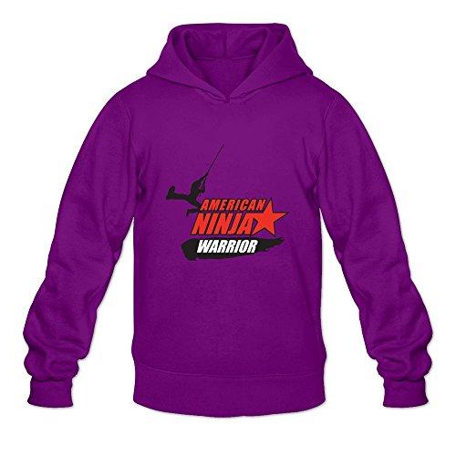 DASY Men's O-neck American Ninja Warrior Sweatshirt Hoodie Small Purple