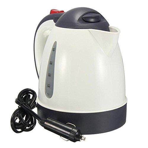 SODIAL 1000ML caldera caliente del coche de viaje portatil del calentador de agua de gran capacidad (12V)