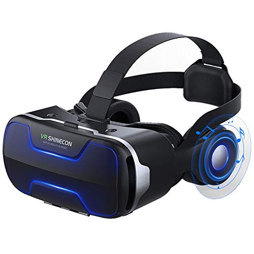 Gafas de realidad virtual de realidad virtual para TV, películas y videojuegos compatibles con iOS, Android y otros teléfonos de 4,7-6 pulgadas