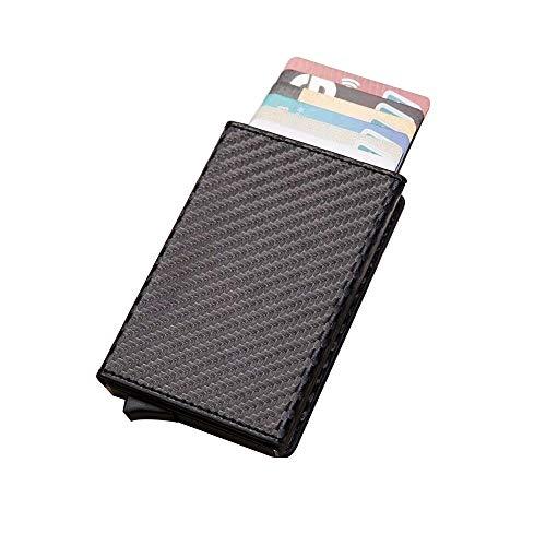 Hanks' Shop Karten-Paket charismatisches Beutel-Multifunktionsaluminium Automatonlike Pop-up-Kreditkarte-Paket (Schwarz) (Color : Carbon Fiber)