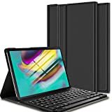 ELTD Clavier Étui pour Samsung Galaxy Tab S5e 10.5 Pouces T720/T725,[AZERTY], Détachable Wireless Clavier Keyboard...