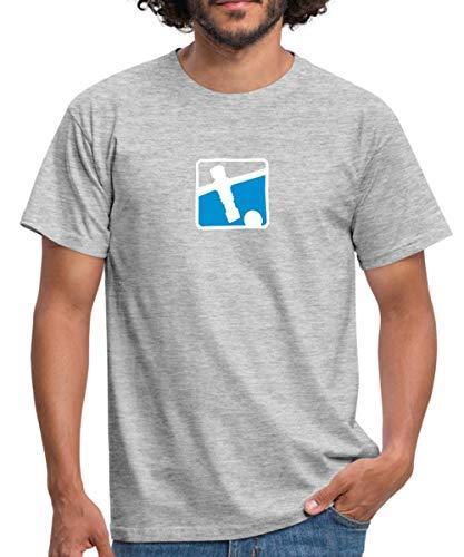 Kicker Soccer Player Tischkicker Männer T-Shirt, 4XL, Grau meliert