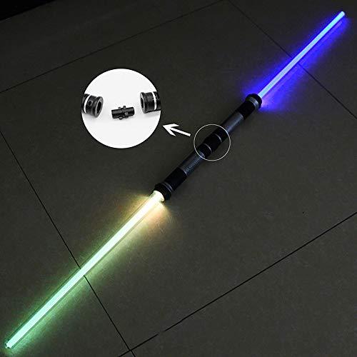 BoMan 2 STÜCKE Lichtschwert Junge Mädchen Spielzeug Farbwechsel Blinkende Schwert Cosplay Lustige Sterne Laser Schwert Leuchtende Musik Kinder Outdoor Kreative Realistische Licht, Geschenk für Kinder