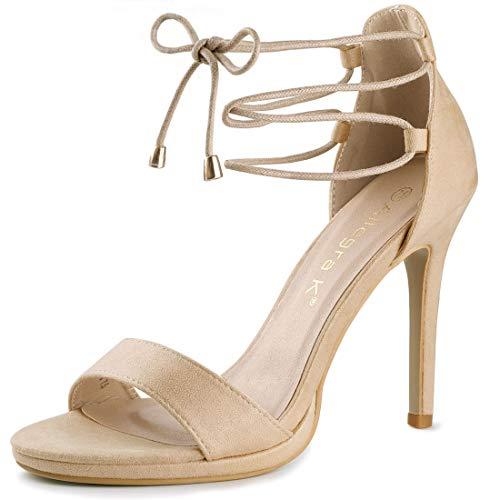 allegra k stilettos Allegra K Women's Open Toe Stiletto High Heel Ankle Strap Sandals