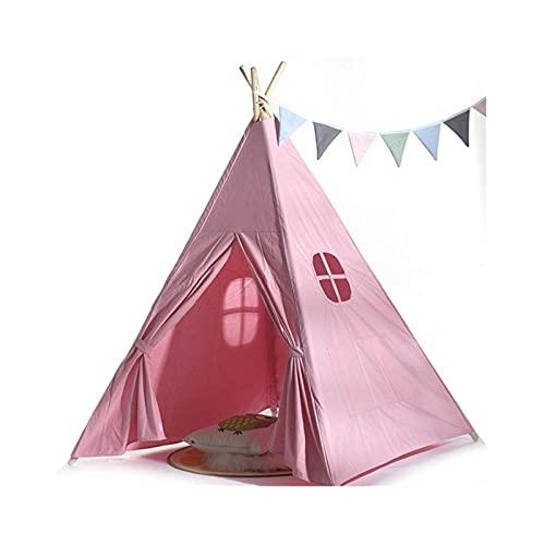 UNU_YAN Sencillez Moderna Tienda Infantil India India Tienda Pink 4 Premium Pine Puestos Decoración de la habitación Decoración de Navidad Teepee Camping Tienda de Juguetes para niñas/niños niños