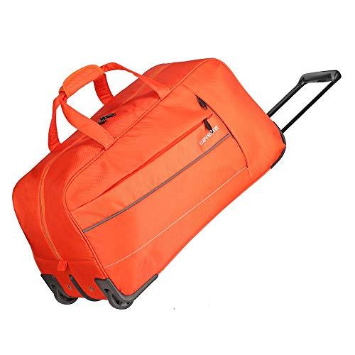 travelite Weichgepäck Reisetasche mit Rollen, Gepäck Serie KITE: Extrem leichte Trolley Reisetasche im sportlichen Design, 089901-87, 64 cm, 68 Liter, orange